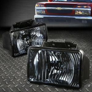 For 04 12 Chevy Colorado Gmc Canyon Smoked Lens Oe Bumper Driving Fog Light Lamp