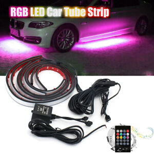 Rgb Led Strip Under Car Tube Underglow Underbody System Neon Lights Kit 8 Colors