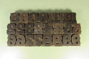 Antique Numbers Letterpress Block Printing Wood Type 1 5 8 Inch