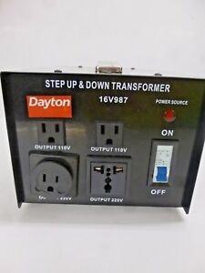 New Dayton Step Up down Voltage Converter 16v987