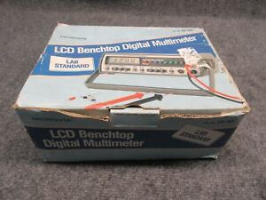 Micronta Model 22 195 Lcd Benchtop Digital Multimeter With Original Box tested