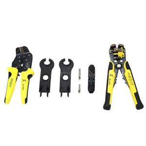 14 10 Awg Crimping Pliers Wire Stripper Cutter Tool For Mc4 Solar Connector G7g1