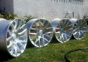 18 Miro Type 111 Silver Wheels 18x8 5 35 5x112 Rims Set Of 4
