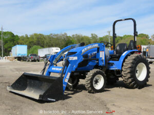 New 2016 New Holland Work Master 33 4wd Utility Farm Loader Tractor Pto Diesel