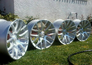 18 Miro Type 111 Wheels 5x100 18x8 5 35 Machined Silver rims Set Of 4