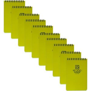 Rite In The Rain 146 Universal Yellow Pocket Notebook 4 inch By 6 inch 10 pack