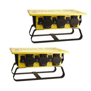 Coleman Cable 019703r02 50a Portable Gcfi Power Distribution Spider Box 2 pack