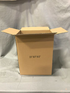 Lot 100 22 17 12 Cardboard Corrugated Moving Shipping Boxes Mailing Packing