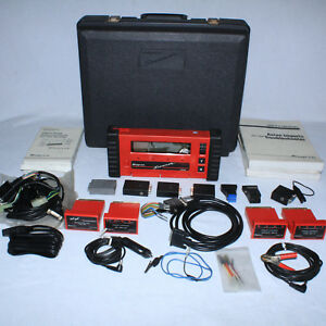 Complete Snap On Diagnostics Scanner Mt2500 W Cartridges Manuals Cables Case