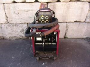 Thermal Arc Fabstar 4030 Welder With Ultrafeed 4000 Wire Feeder Works Great 1