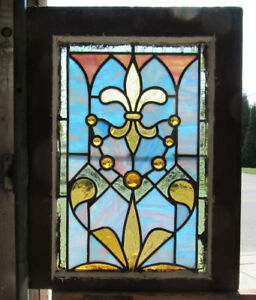 Great Antique Stained Glass Window 1 Of 2 16 X 21 Architectural Salvage