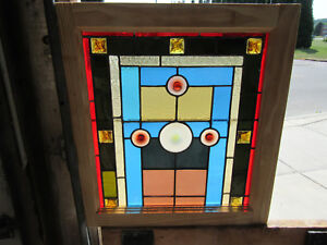 Antique Stained Glass Window 11 Jewels 22 X 24 1 Of 2 Salvage