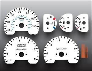 1999 2002 Land Rover Discovery Dash Instrument Cluster White Face Gauges