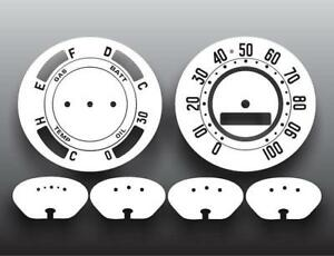 1951 Chevrolet Styleline Deluxe Dash Instrument Cluster White Face Gauges