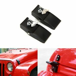 One Pair Locking Hood Catch Hood Lock Latches For Jeep Wrangler Jk Jku 2007 2017