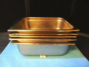 5 Pack Half Size 4 Deep Stainless Steel Commercial Steam Table Pans Rh481