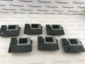 Lot Of 6x Cisco Telecom System Cp 7965g