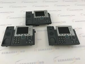 Lot Of 3x Cisco Telecom System 7942 With Head Set