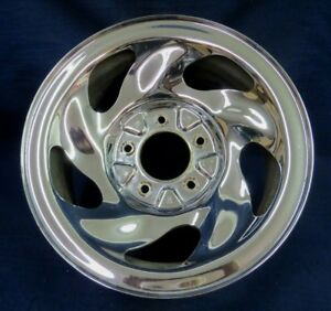 Ford Expedition F150 Pickup 97 99 16 5 Slot Chrome Styled Steel Wheel 1 Oem