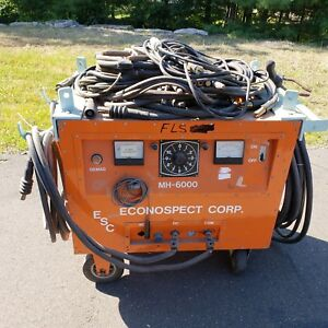 Econospect Corp Model Mh 6000 Magnetic Particle Testing Generator Auto Demag
