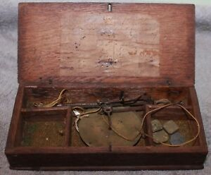 Rare Late 18c 19c Freeman And Sons London Hand Held Gold Scale Wood Case