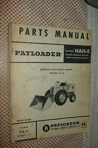 Ih International Hah e Front end Wheel Pay Loader Tractor Operators Manual Hough