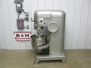 Hobart H600 Heavy Duty Bakery Pizza Mixer 60 Qt W Stainless Bowl Dough Hook