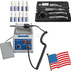 Dental Lab Marathon Electric Micro Motor N3 High Low Speed Handpiece 10 Burs