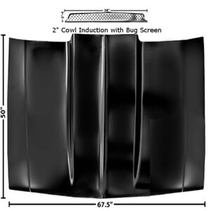 1981 82 83 84 85 86 87 Chevy Pickup Truck 2 Cowl Induction Hood W Bug Screen
