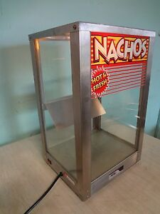 Hd Commercial apw Wyott C top Heated Lighted Nacho Merchandiser display Case