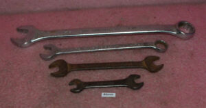 4 Vintage Usa Made Wrencheschallenger 1 1 4 Wrench L6140challenger 6128