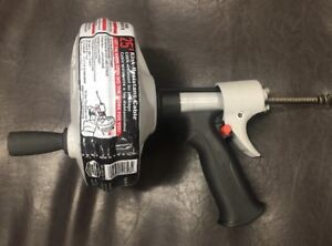 Ridgid Kwik Spin Plumbing Sewer Snake Drain Cleaner Auger Cleaning Cable Tool