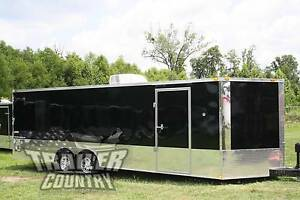New 2019 8 5x24 8 5 X 24 V nosed Enclosed Race Cargo Car Toy Hauler Trailer
