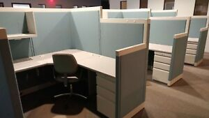Used Office Cubicles Allsteel Concensys 6x6 Cubicles