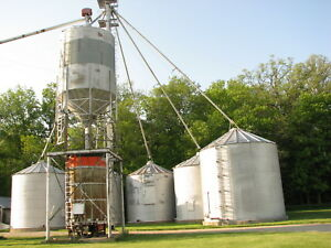 Complete Grain Bin System W grain Leg And Dryer 17000 Bu Added Wet Bin 2400bu