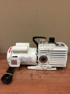 Leybold Trivac D8a Rotary Vane Dual Stage High Vacuum Pump W 1hp Free Shipping