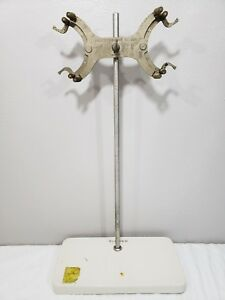 Fisher Scientific Porcelain Lab Stand 23 rod 1933 Fisher Burette Holder 1617 1