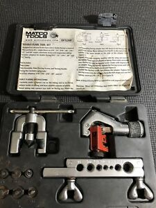 Matco Tools Dfs260 Double Flare Tool Set Brake Fuel Line