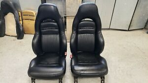 Corvette C5 Power Leather Sport Seats Ebony Black Low Mile Used 97 04