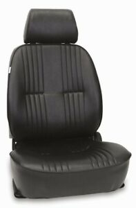 Procar 1300 Series Vintage Style Vinyl Bucket Seat Drivers Side Black