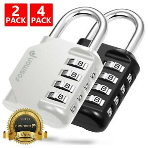 4 Digit Combination Padlock Travel Luggage Suitcase Bag Lock School Gym Locker