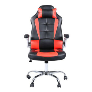 Racing Gaming Adjustable Office Chair High Back Ergonomic Swivel Footrest