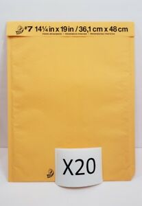 Lot Of 20 7 14 25 X 19 Duck Bubble Mailers Seal Padded Envelopes 14 1 2 X 19
