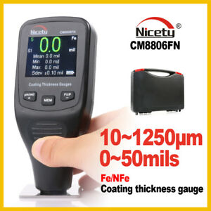 Paint Coating Thickness Gauge Tester Ferrous Non ferrous Color Screen Cm8806fn