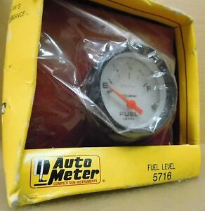 Auto Meter 5716 Phantom Fuel Level Gauge 2 1 16 Dia Empty Full 240 33 Ohms