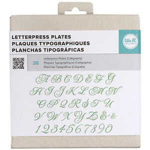 American Crafts We R Memory Keepers Calligraphy Letterpress Plates 42 Pieces