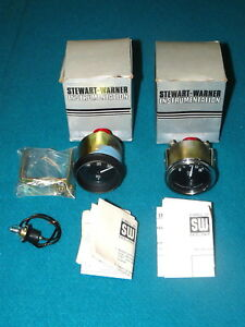 Lot Of 2 Unused Stewart warner Vintage Oil Temp Fuel Pressure Gauge