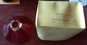 Vintage Nos Buick 1960 Stop Tail Lamp Lens B60 Rep 5951148 In Original Box