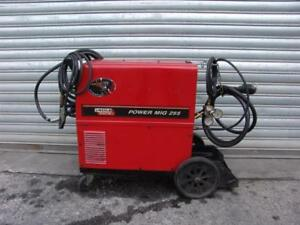 Lincoln Power Mig 255 Wire Feed Welder Single Phase Works Great