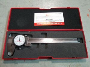 Starrett 120a 6 Dial Caliper 0 6 White Dial Face Made In Usa